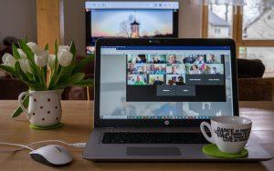 virtual meetings camera on